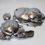 Aluminium Motorendeckel Yamaha poliert