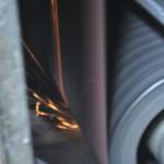 Metallschleifen - Schleifvorgang