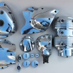 Metallveredelung Verchromen - Motorradteile nachher
