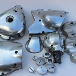 Metallveredelung Verchromen - Motorradteile vorher